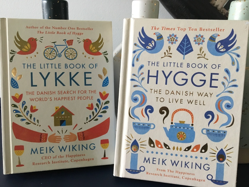 Meik Wiking's, The Little Book of Hygge and The Little Book of Lykke.